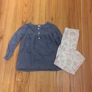 Chambray Floral Outfit